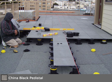 Interlocking stone deck tile systems for patios and balconies - How to install interlocking deck tiles ...